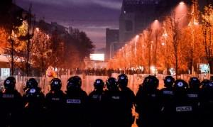policia prishtine protesta