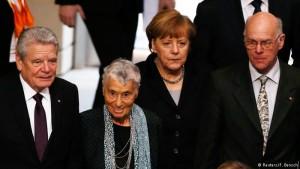 Joachim Gauck. Ruth Klüger, Angela Merkel, Norbert Lammert