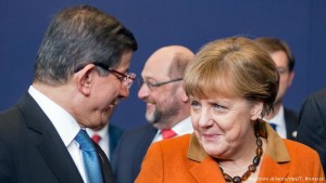 Davutoglu Merkel
