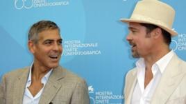 Brad Pitt dhe George Clooney