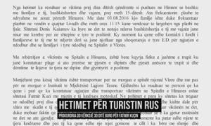 hetime vdekja e turistit rus