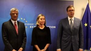 Mogherini Thaci Vucic