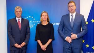 Thaci Mogherini Vucic
