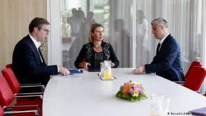 Vucic Mogherini Thaci