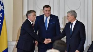 Zeljko Komsic, Milorad Dodik, Sefik Dzaferovic