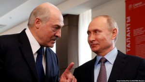 Russia, Sochi, Belarus President Alexander Lukashenko and Russian President Vladimir Putin meet at the Sirius Educational Center in the Black sea resort