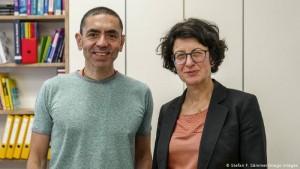 Ugur Sahin dhe gruaja e tij Özlem Türeci