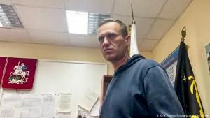 Navalny në stacionin e policisë, 18 janar 2021