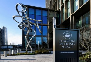 Exterior of EMA, European Medicines Agency is seen in Amsterdam